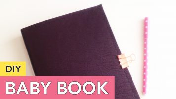 DIY Baby Keepsake Book | Pamphlet Stitch and Envelope Back Pocket