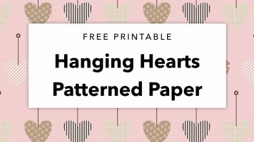 Free Printable Hanging Hearts Patterned Paper