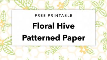 Free Printable Floral Hive Patterned Paper
