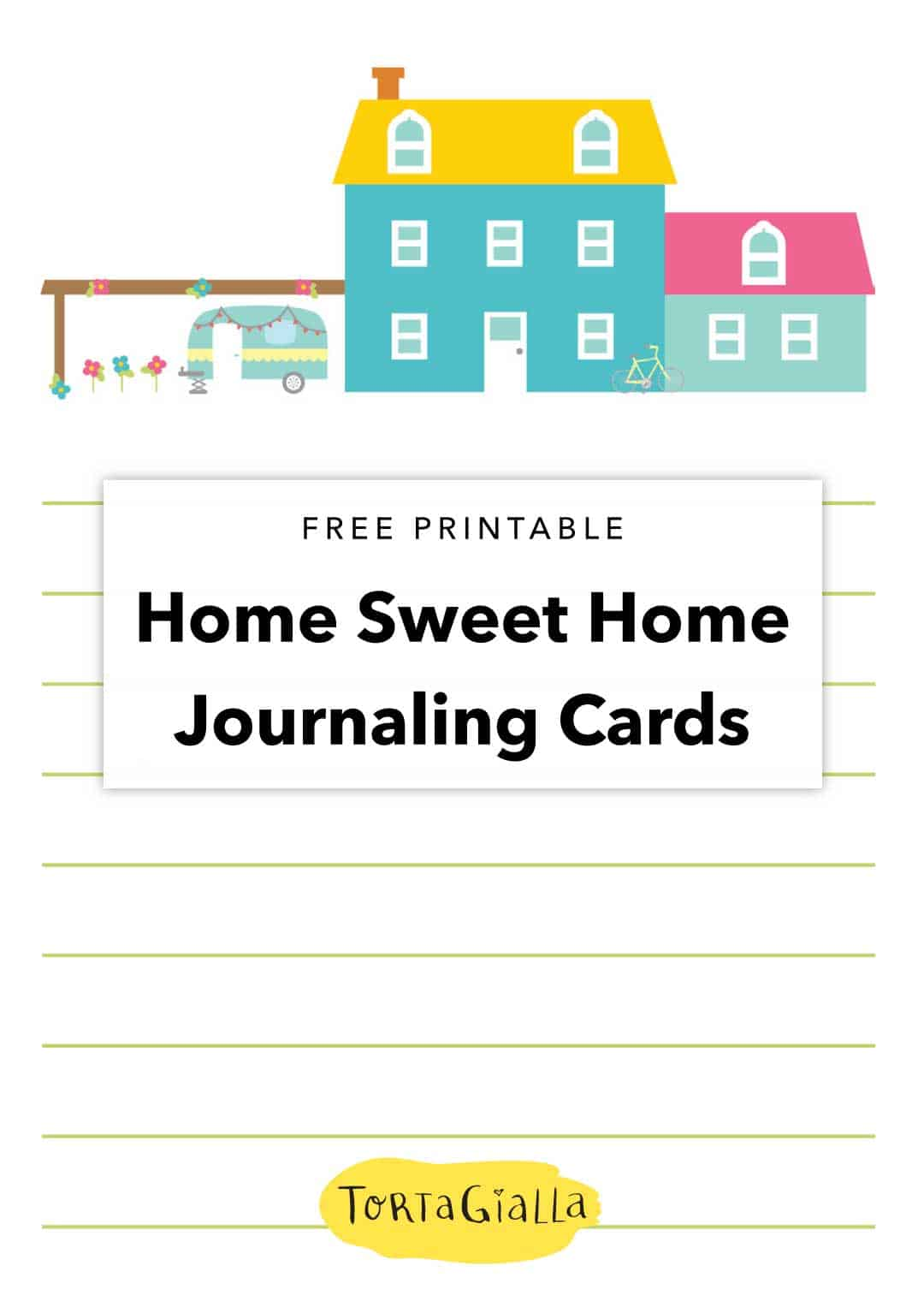 free printable home sweet home journaling cards