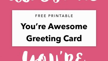 Free Printable You're Awesome Greeting Card