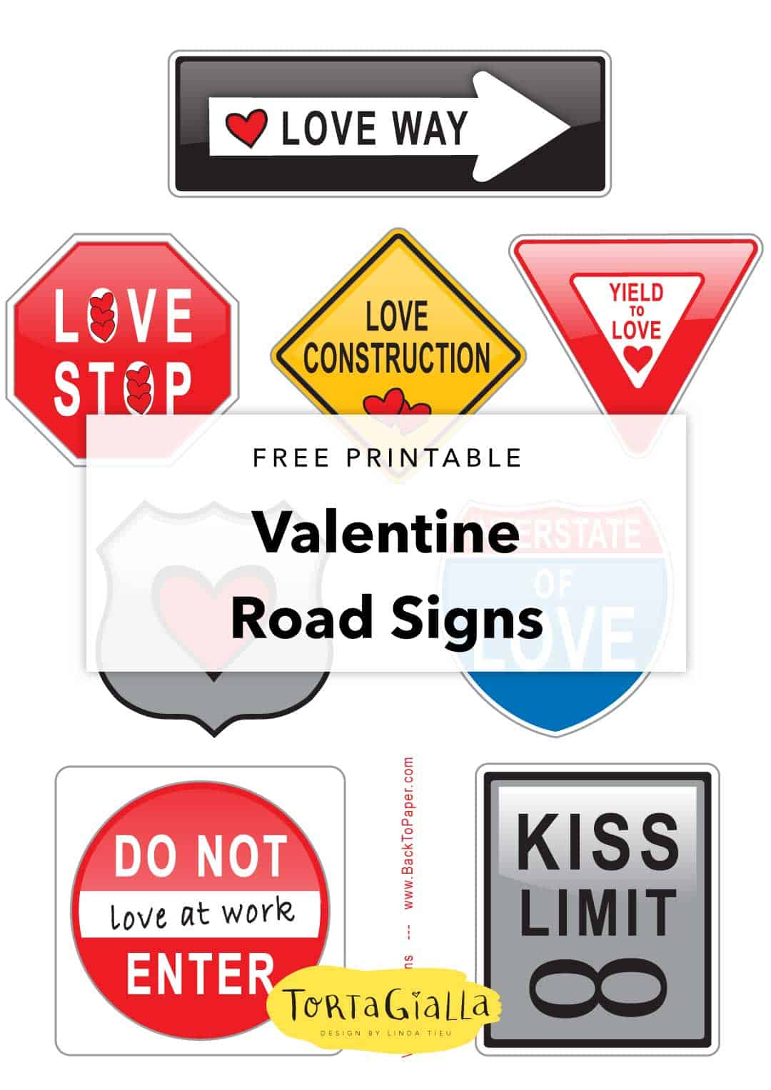 graphic regarding Free Printable Road Signs titled Free of charge Printable Valentine Signs or symptoms - Get pleasure from Visitors Indications