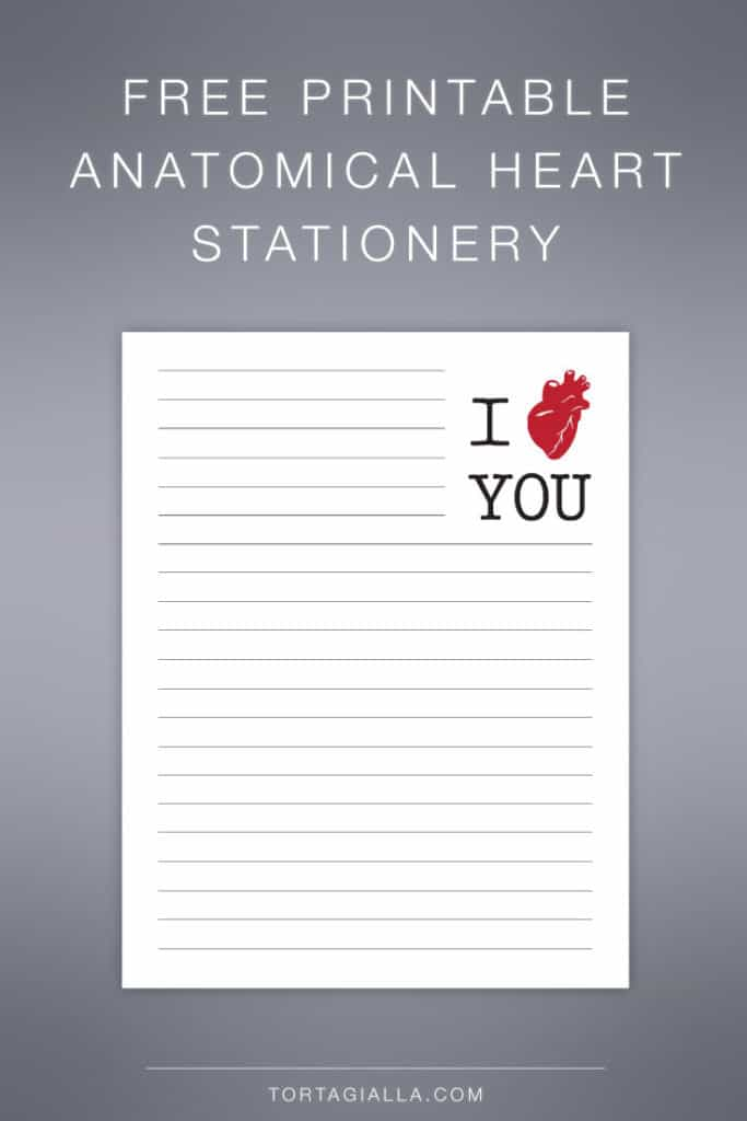 FREE PRINTABLE: Heart Stationery Printable