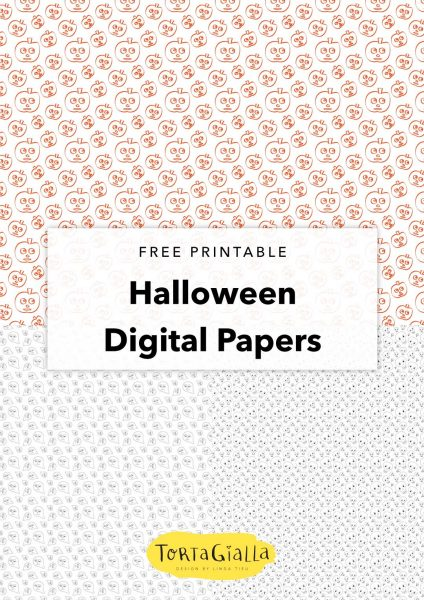 free printable halloween digital papers
