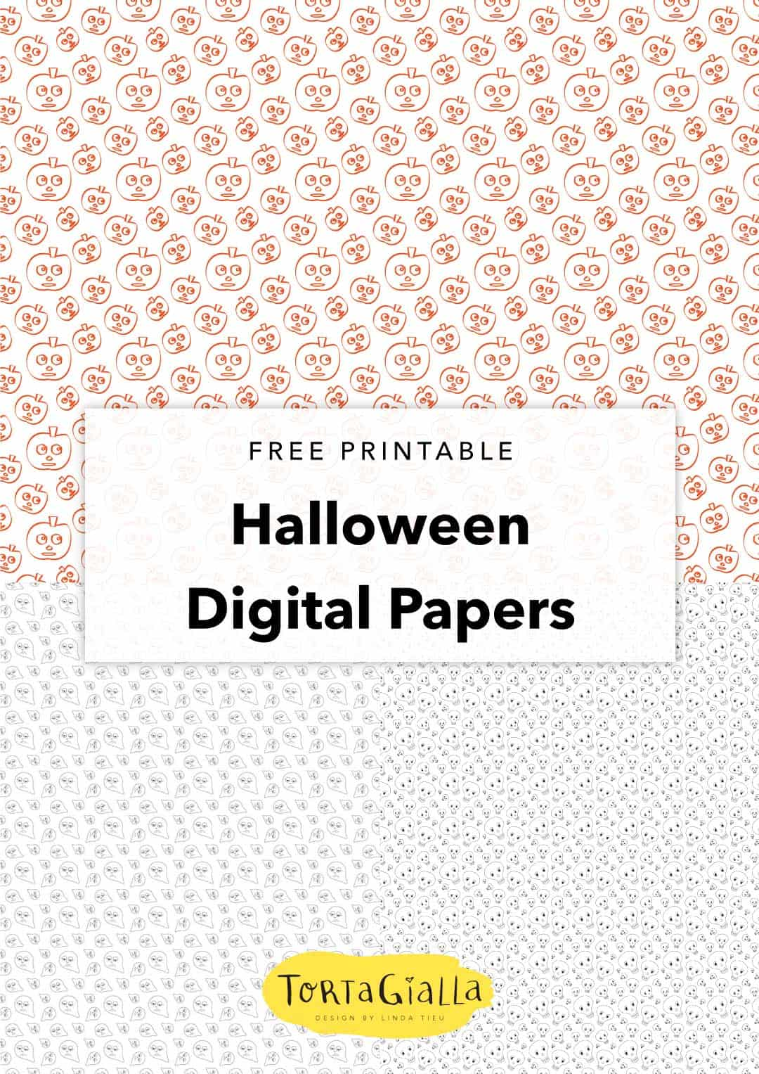 image relating to Printable Halloween Card known as Totally free Printable Electronic Papers - Halloween Card tortagialla