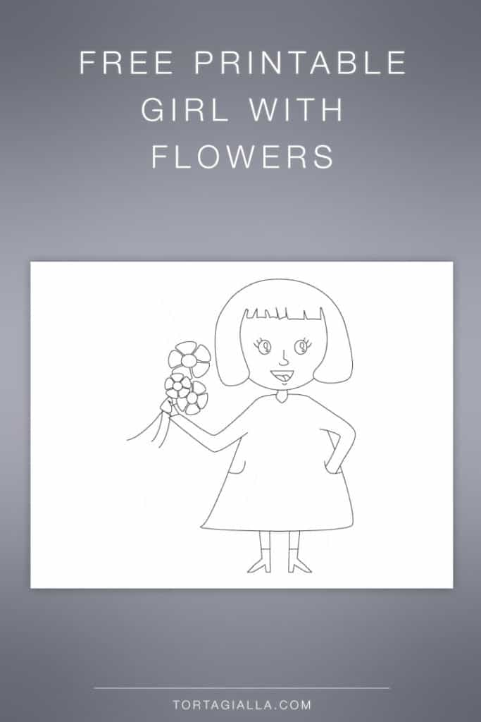 FREEBIE: Girl printable drawing for coloring and more!