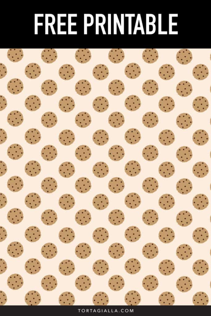 Free printable cookie paper pattern - PDF download for FREE