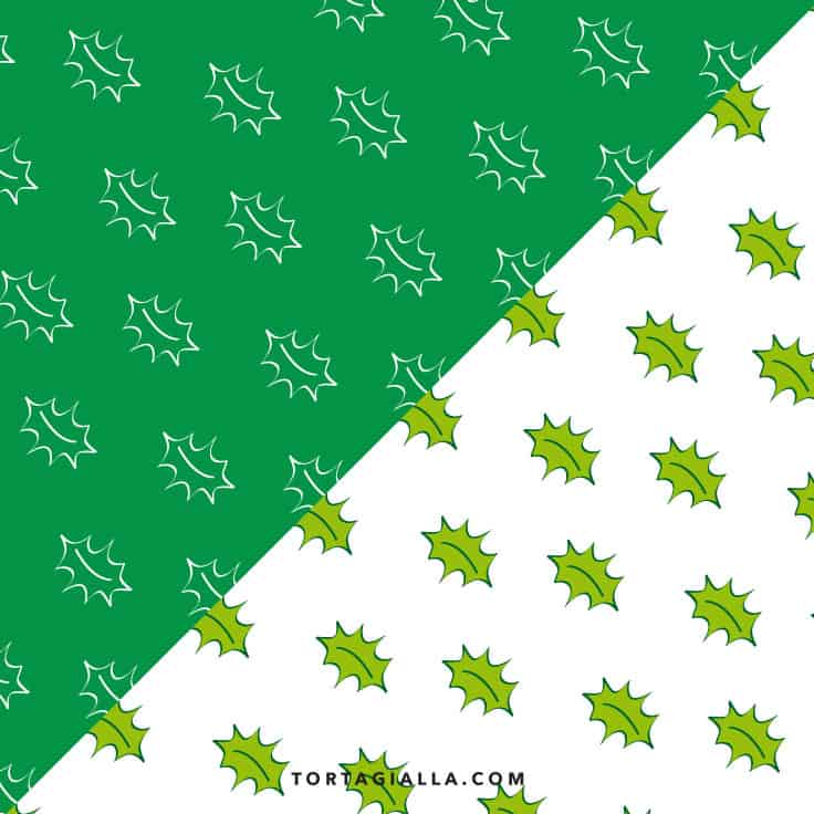 holly leaf pattern paper design - free downloadable PDFs
