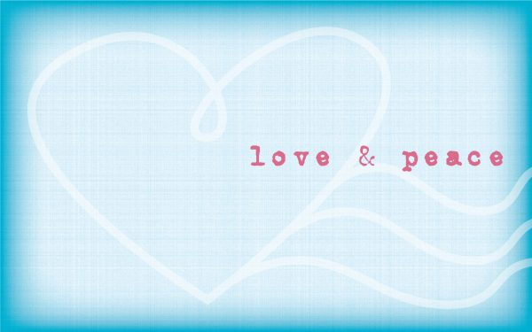 love and peace wallpaper stamp design