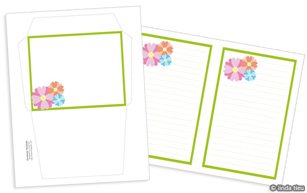 photograph about Free Printable Stationary Pdf identify Spring Bouquets Stationery Fixed - A Printable Freebie