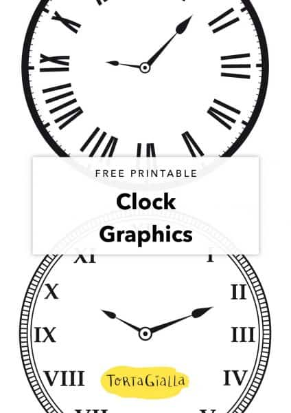 free printable clock graphics