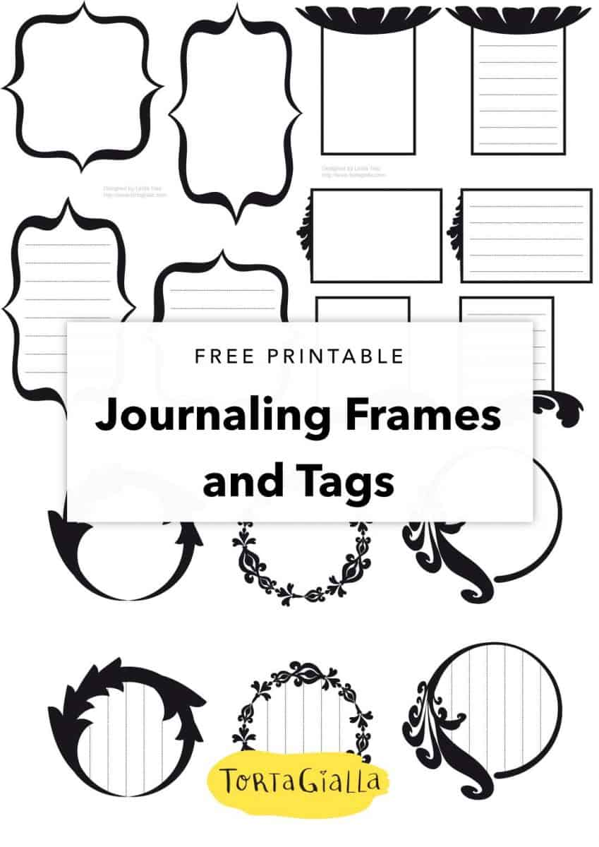 free printable journaling frames and tags