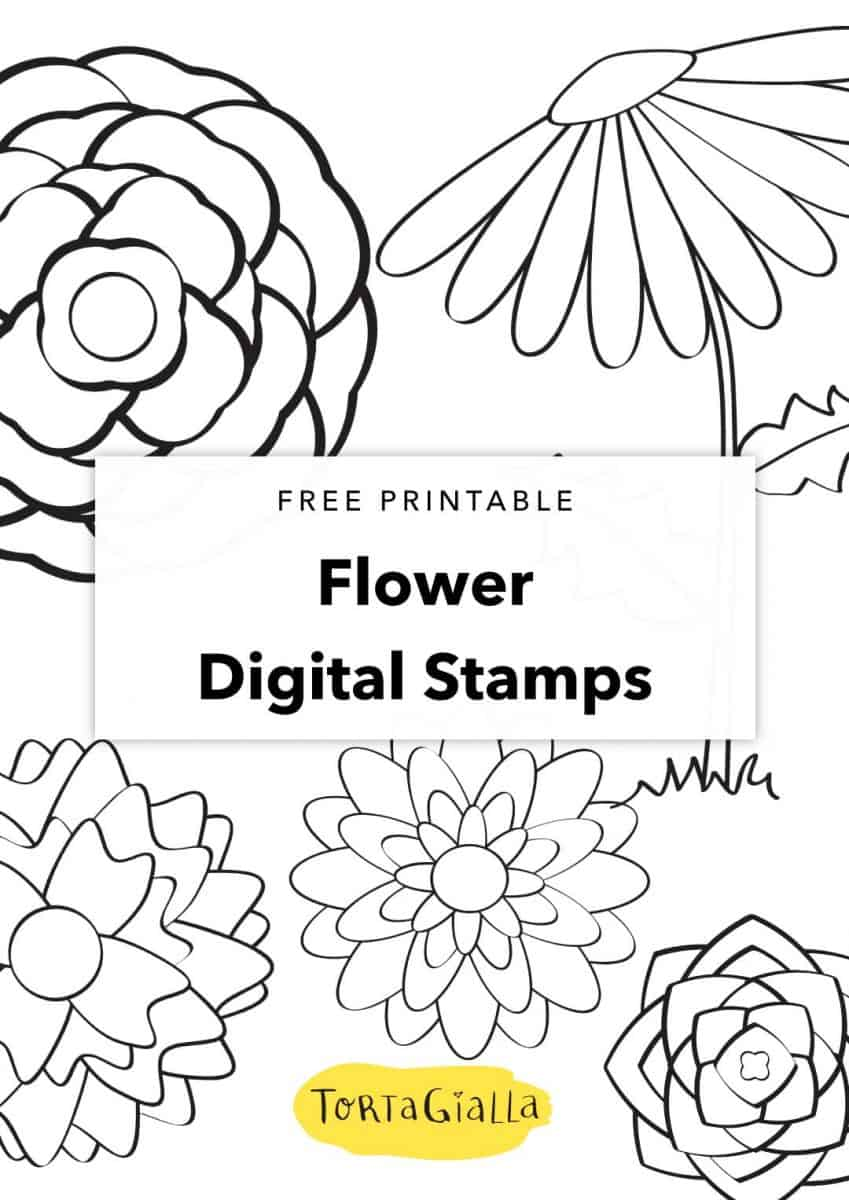 image regarding Printable Flower Patterns identify Cost-free Printable - Flower Electronic Stamps - Floral Practices
