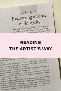 Reading The Artist's Way: Recovering a sense of Integrity