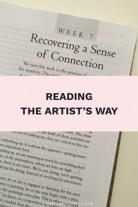 Reading The Artist's Way: Recovering a Sense of Connection