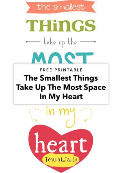 free printable the smallest things