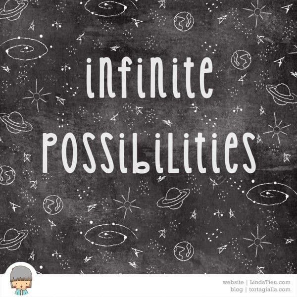 Free art printable: infinite possibilities space poster