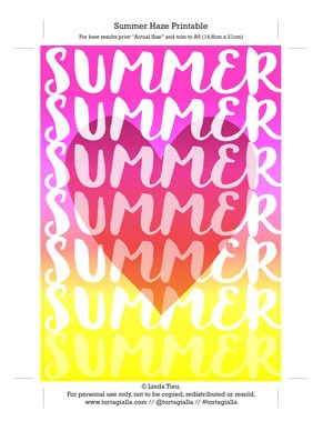 Summer Haze Art Printable