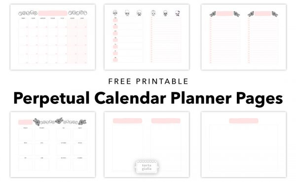 Free planner printables | Download a whole set of perpetual calendar planner pages for free, just join my email list for the download files!