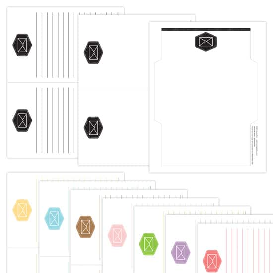 The Letter Exchange Printable Stationery Set