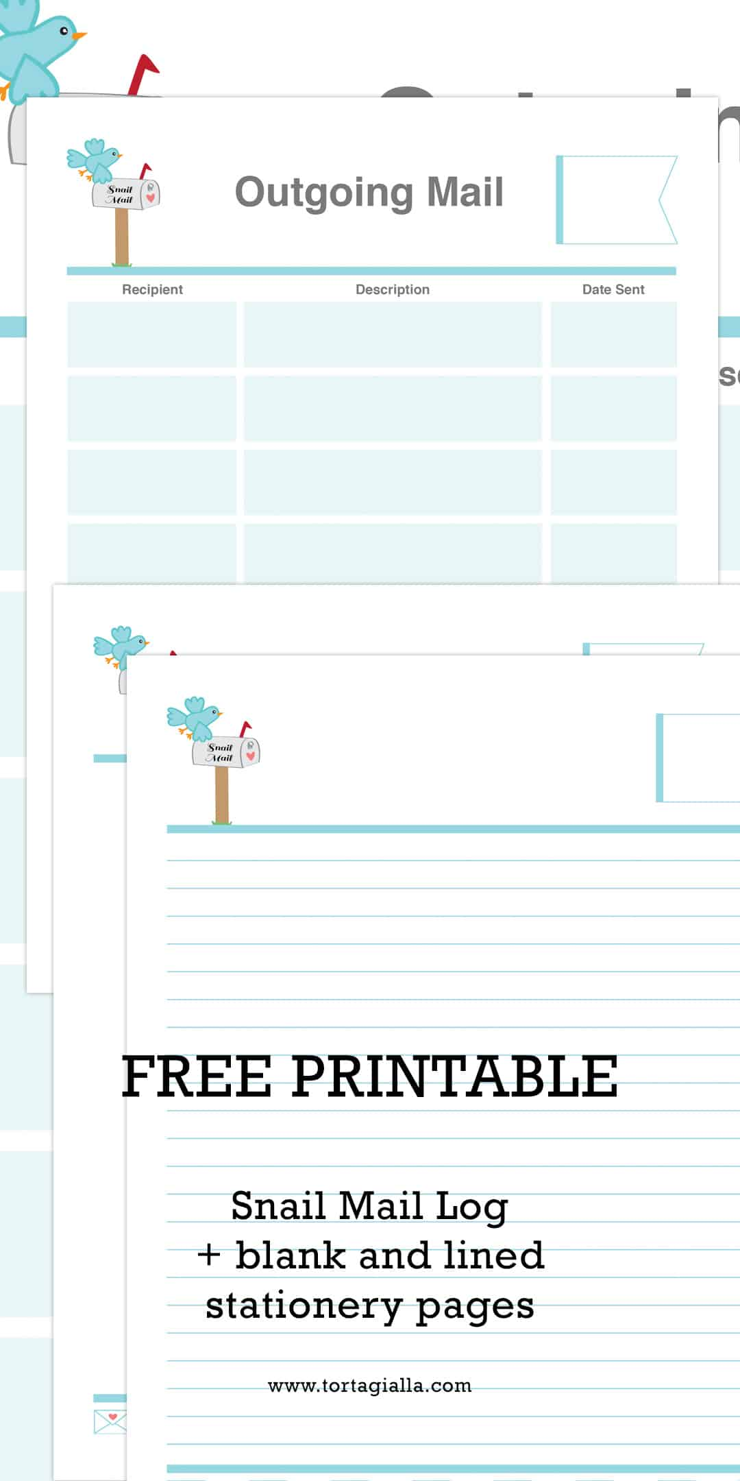 Keep Track of Snail Mail with a Printable Letterwriting Log