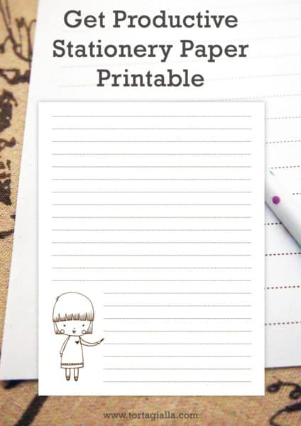 Get Productive Stationery Printable PDF