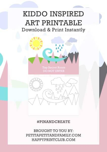 Kiddo inspired free art printable - PDF customizable