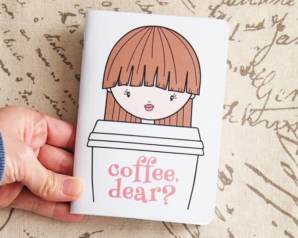 Coffee, Dear? Pocket Notebook on tortgialla Etsy shop