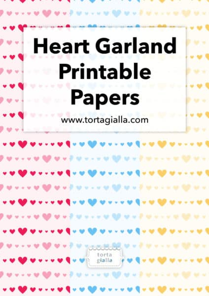Heart Garland Printable Papers
