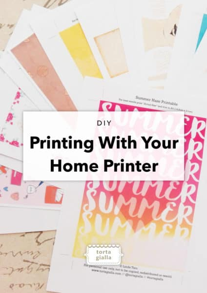 DIY Printing With Your Home Printer