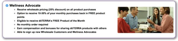 wellness advocate with doTERRA