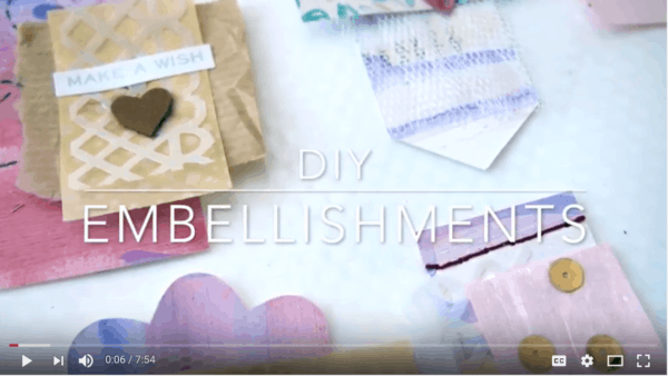 DIY Embellishments Video