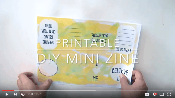 Printable DIY Mini Zine