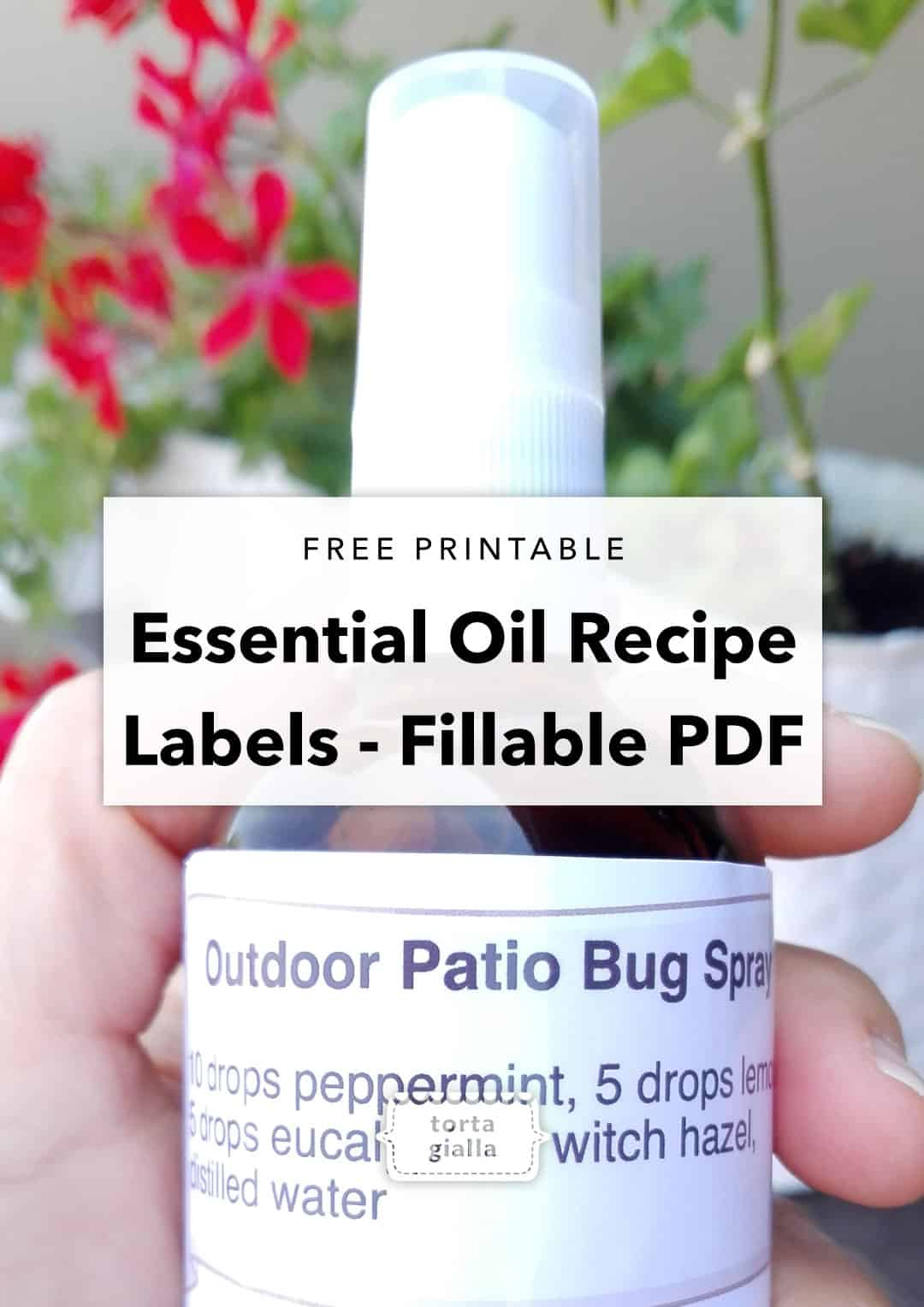 photograph about Printable Essential Oil Labels named Free of charge Printable - Important Oil Bottle Labels tortagialla