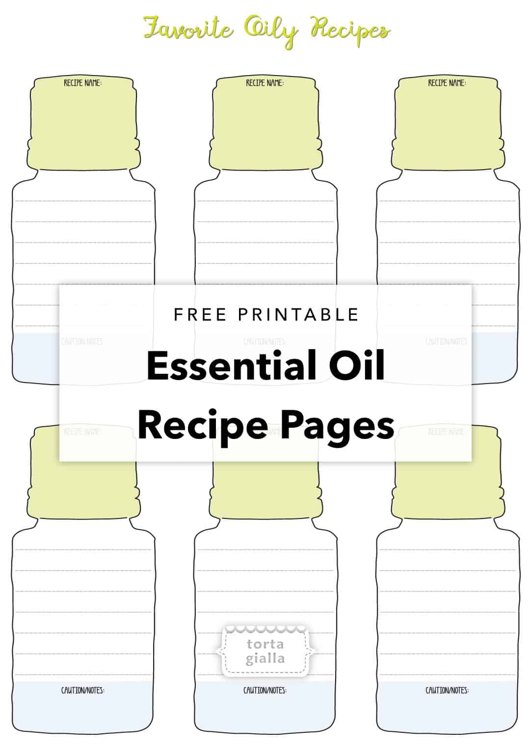 picture about Printable Recipe Pages known as No cost Printable - Necessary Oil Recipe Webpages tortagialla