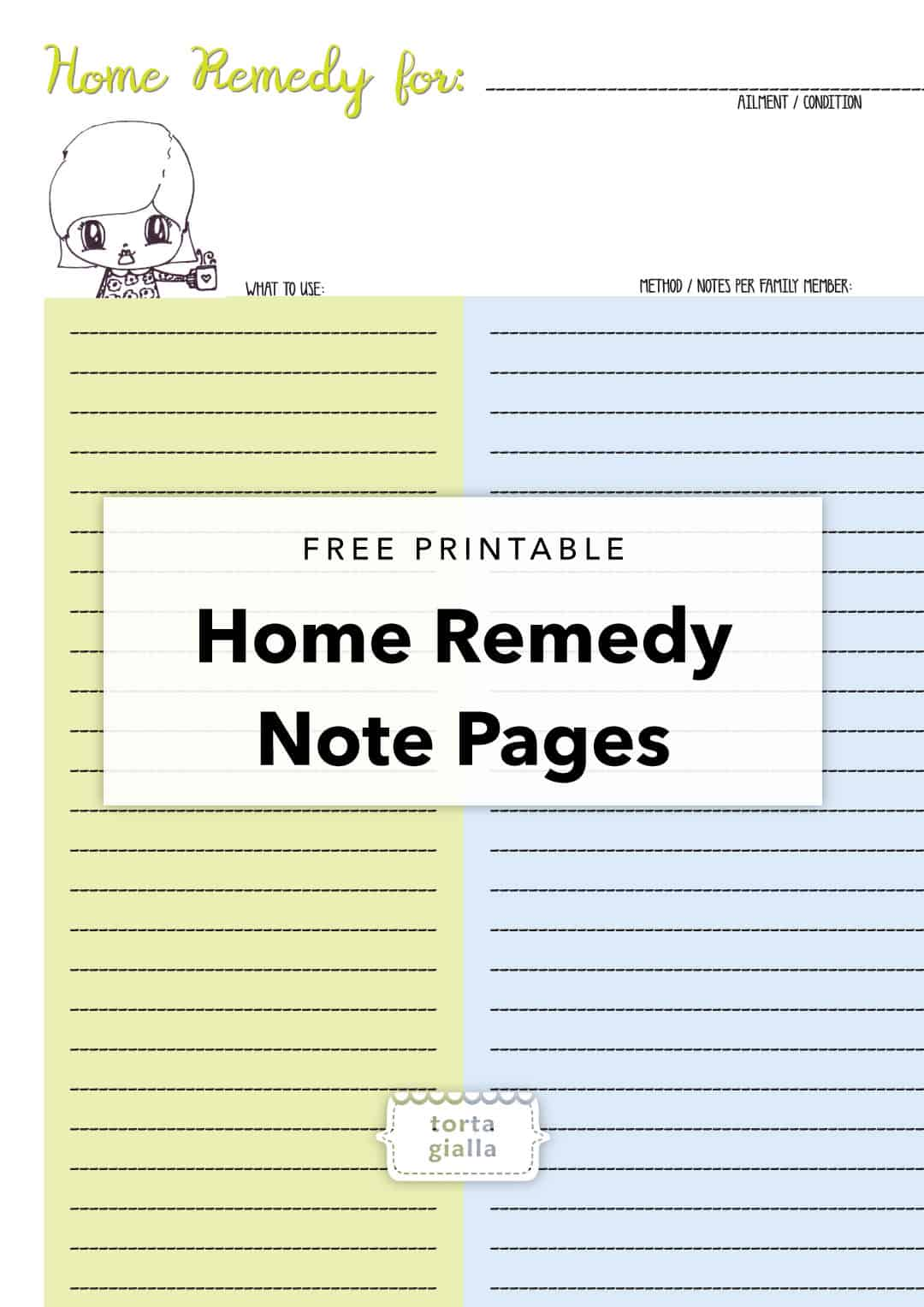 home remedy printable pages