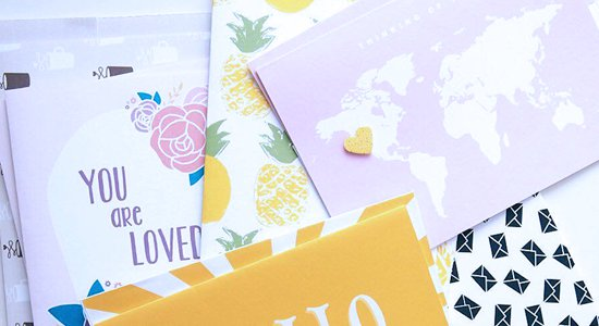 Happy Print Club - printable stationery