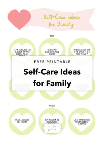 free printable self-care ideas for family and blank printable as well