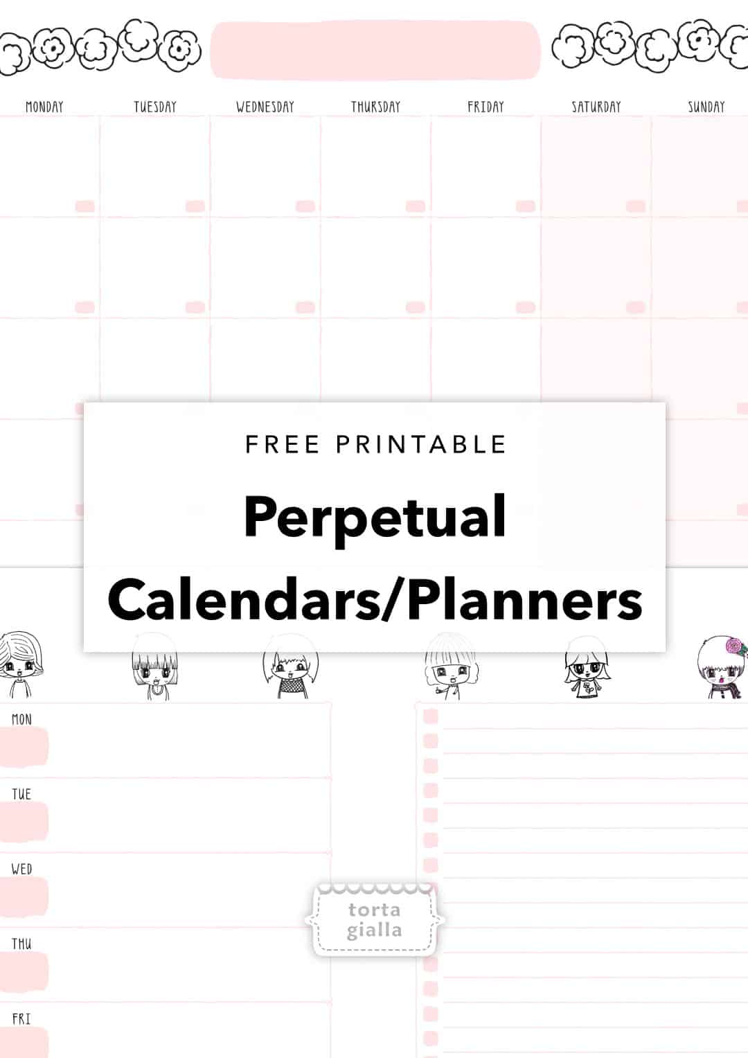 free printable calendar planner pages