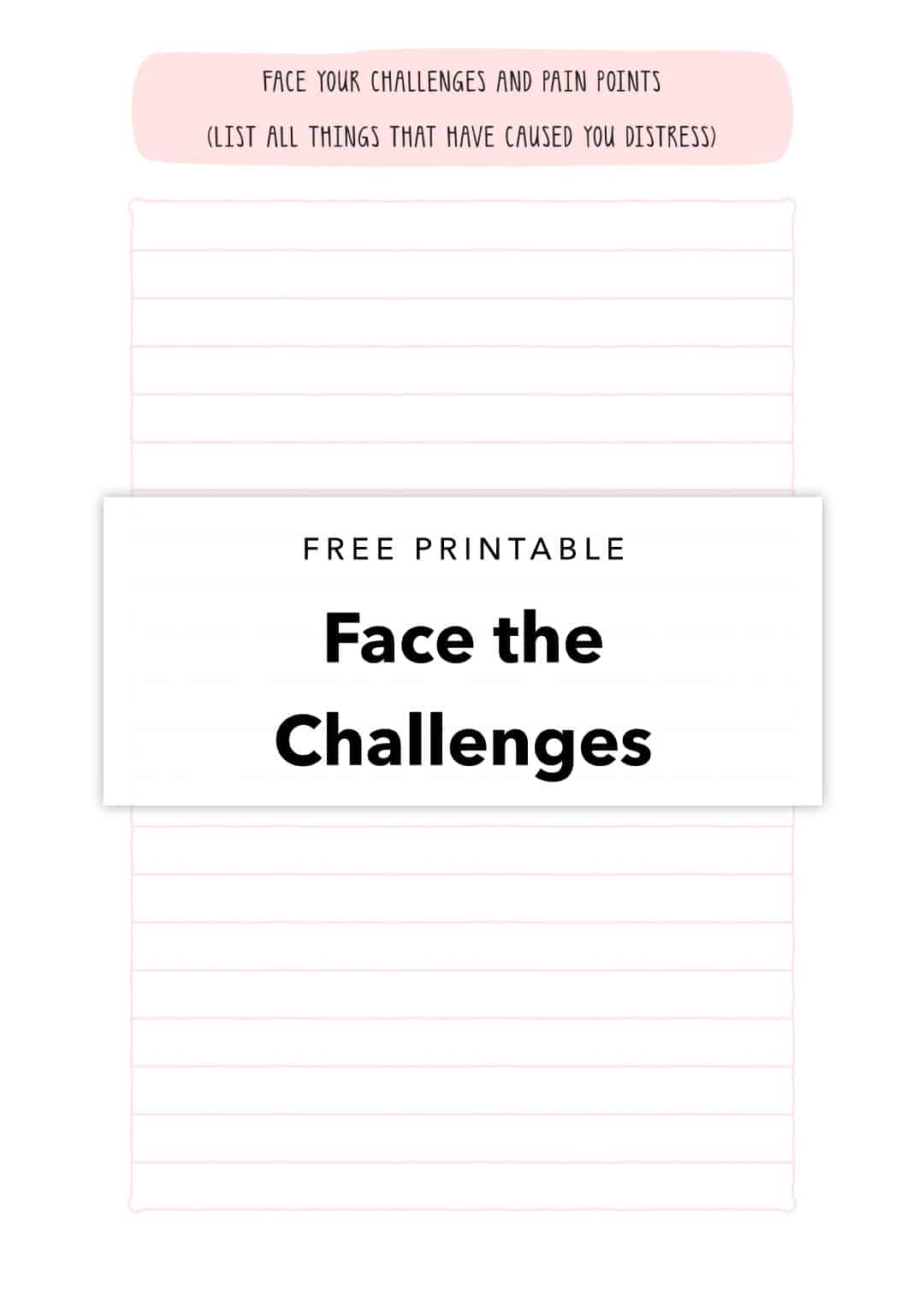 free printable to face your challenges