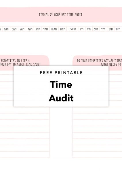 free printable time audit