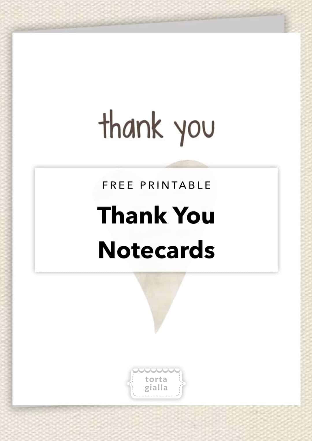 free printable thank you notecards