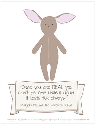 Free printable: dust bunny quote art printable
