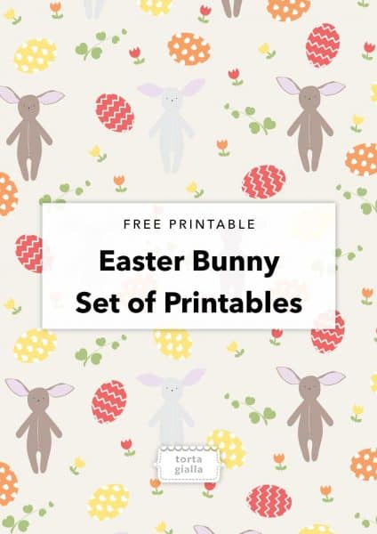 Easter Bunny Printables // Patterned paper, coloring page, bunny paper doll, bunny quote art printable