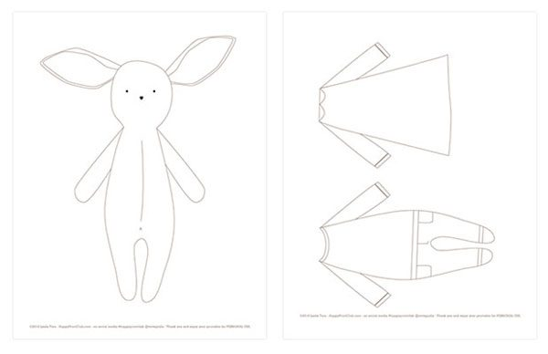easter bunny coloring doll clothes