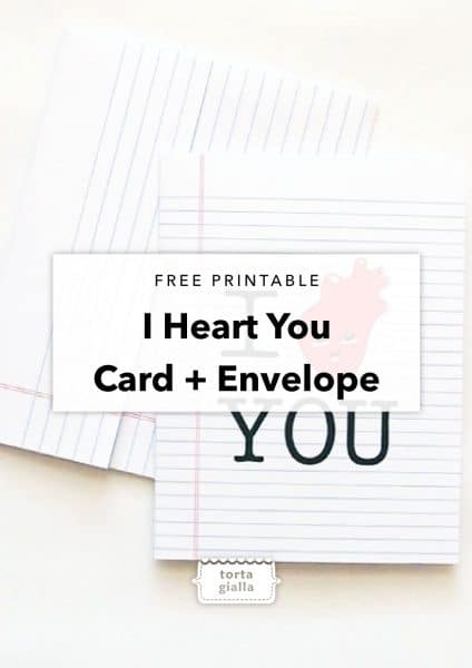free printable i heart you