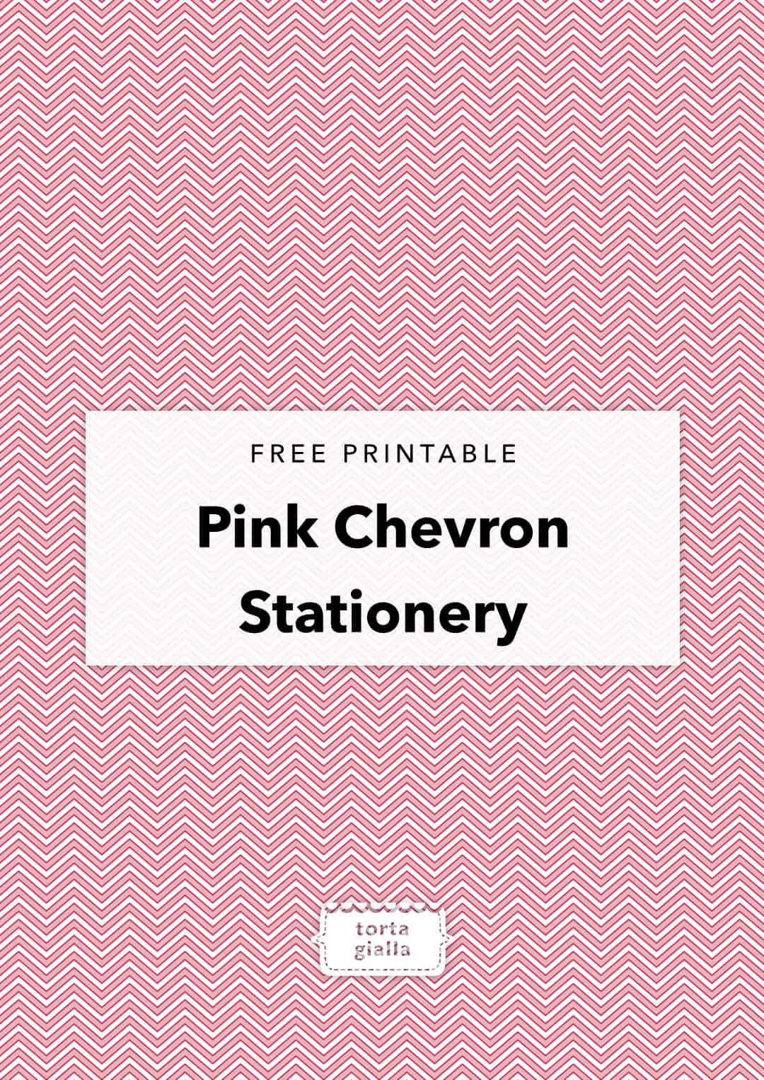 free printable pink chevron stationery