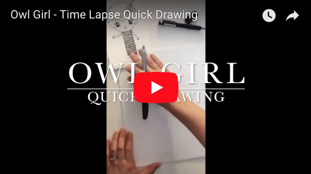 owl girl time lapse