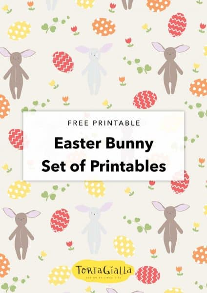 Easter Bunny Printables // patterned paper, coloring pages, easter bunny paper doll, quote art printable