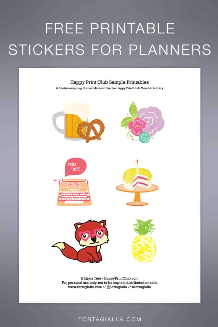 Download these free printable stickers for planners on tortagialla.com